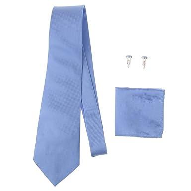 IPOTCH 4pcs Corbatas de Negocio con Pañuelo de Bolsillo Gemelos de ...