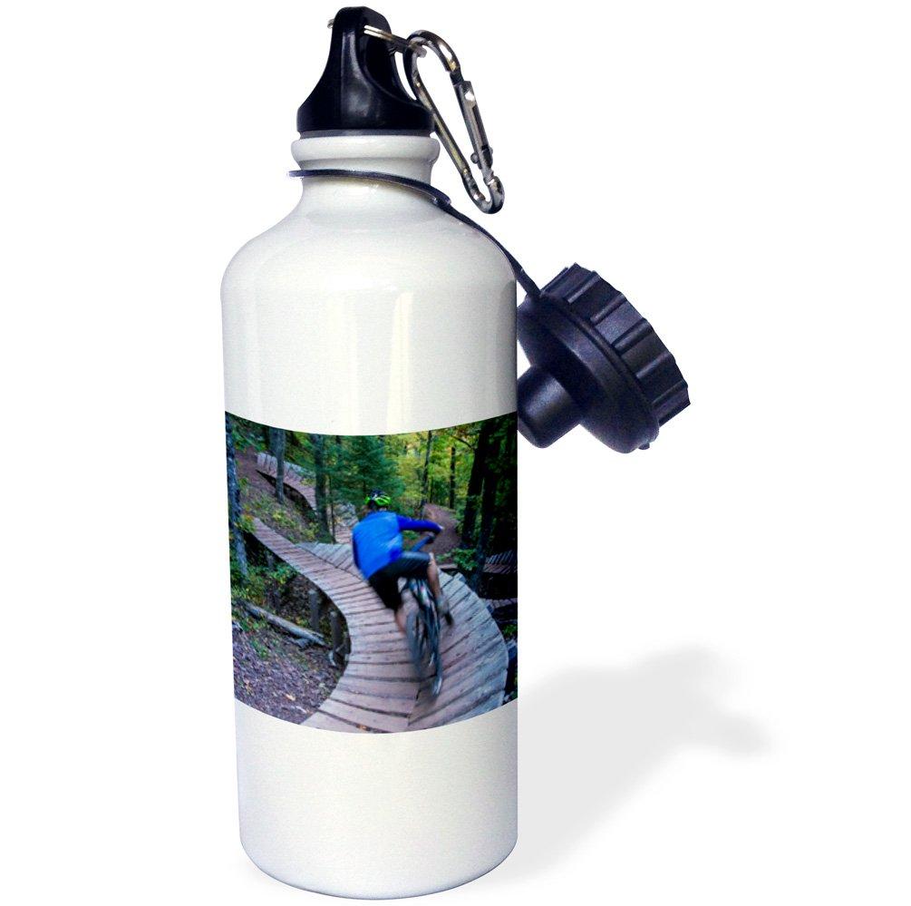 21 oz Multicolor 3dRose Mountain Biking on The Over The Edge Trail wb/_190181/_1 21oz Michigan USA-Sports Water Bottle