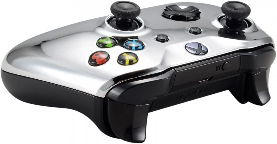 Red eXtremeRate Chrome Front Housing Shell Faceplate for Microsoft Xbox One S /& Xbox One X Controller