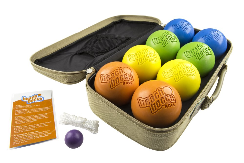 SeaTurtle Sports Luxury Beach Bocce Ball Crack and Rust Proof Set by SeaTurtle Sports