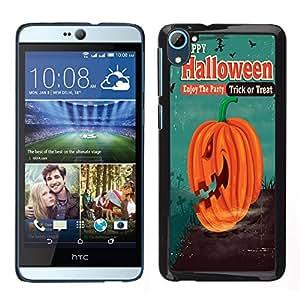 Dragon Case - FOR HTC Desire D826 - Happy Hallowen party - Caja protectora de pl??stico duro de la cubierta Dise?¡Ào Slim Fit