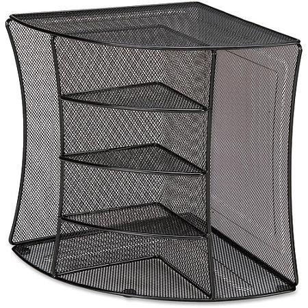Versatile Mesh Corner Desktop Organizer, Black