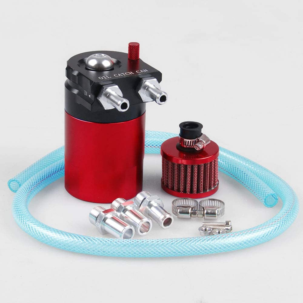 BEESCLOVER 300/ML Cylindre en Aluminium Huile Moteur Catch R/éservoir R/éservoir de Reniflard Peut avec Filtre