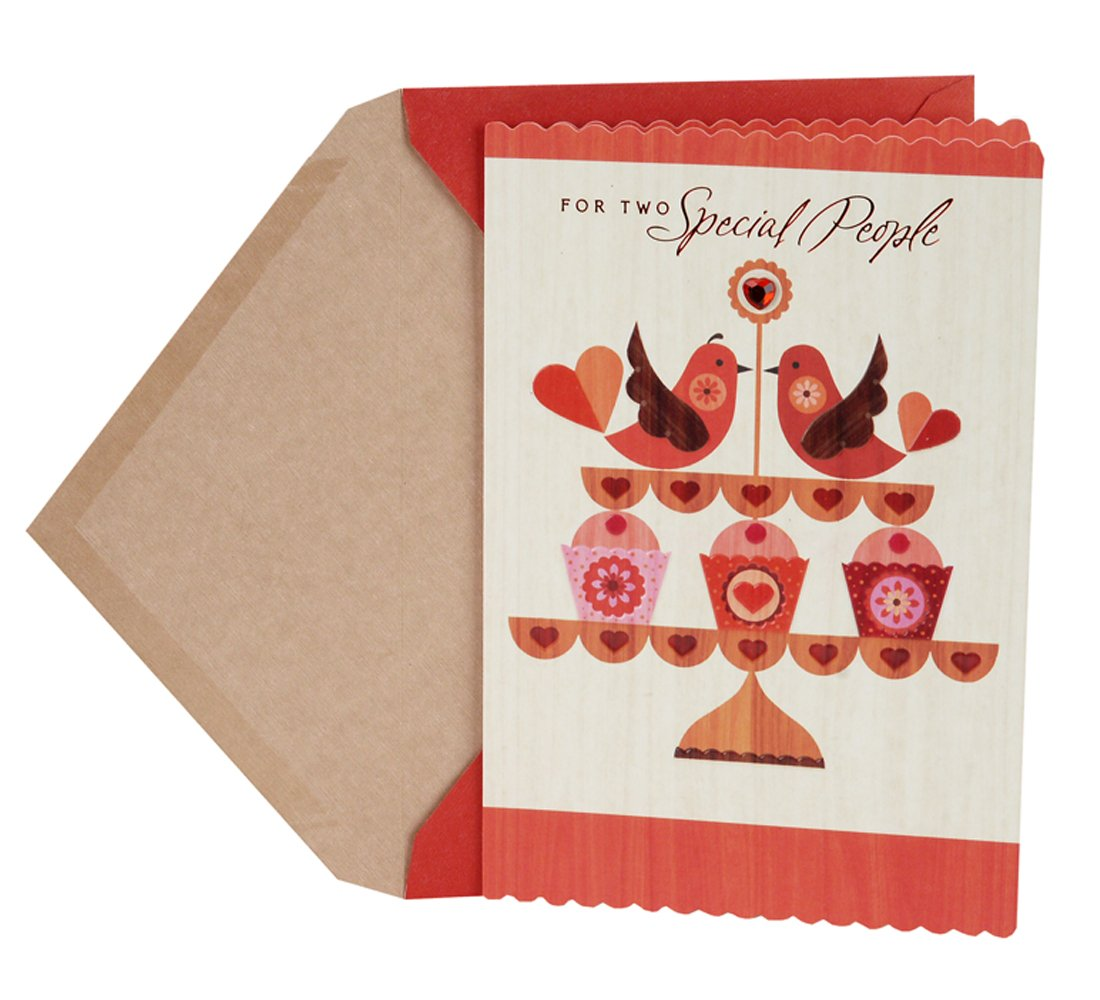 Hallmark Valentine's Day Greeting Card for a Special Couple (Birds with Cupcakes)