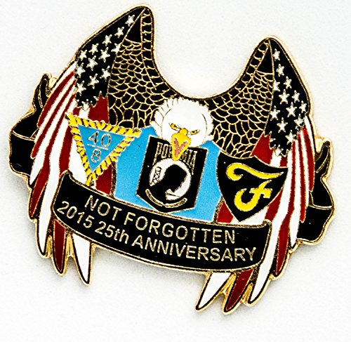 Military Award Plaques (POW MIA US Flags Lapel Hat Pin 25th Anniversary - Military Lapel Pin Gifts - USA Veteran - Flags Lapel Hat Pin Genuine American Eagle Lapel Pins Made To Jewelry-Like)