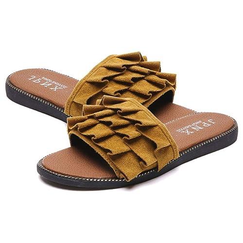 Moda Zapatillas de Verano Talón Plano Mujer Zapatillas Todo-fósforo Sandalias de Playa Zapatos: Amazon.es: Zapatos y complementos