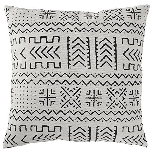 Rivet Mudcloth-Inspired Decorative Throw Pillow, 17