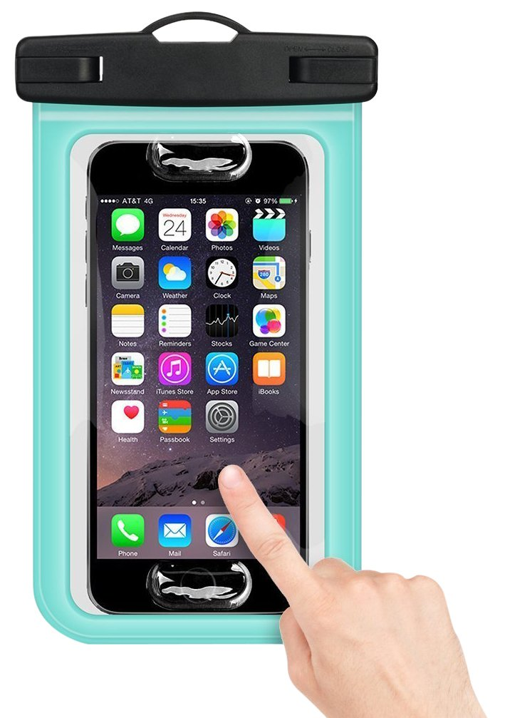 Buylen Universal Waterproof Case with Super Sealability Technology, Cellphone Dry Bag Pouch with Sensitive PVC Touch Screen for Cellphone Up to 6.0'' Diagonal