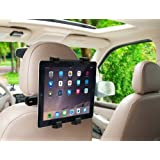 MMOBIEL Car Headrest Mount Holder Rotating Cradle Back Seat Dock Stand for iPad /  Samsung Tab and Other Tablets
