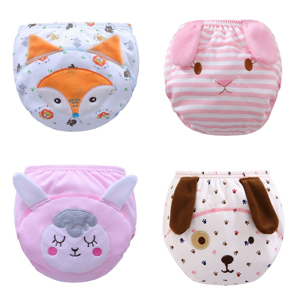 Toddler Baby Girl Boy Pee Potty Training Pants Cute Diaper Nappy Packs product image