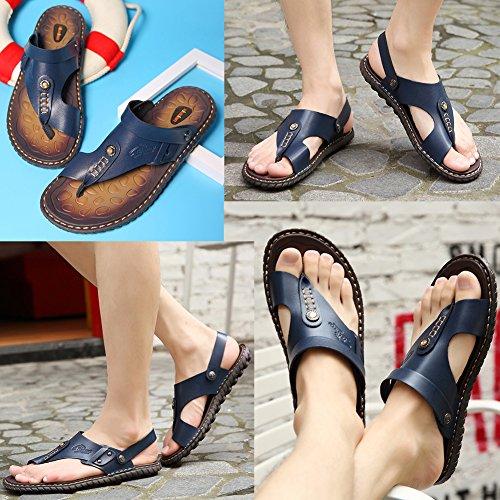 21847ce8d0e OHCHSH Mens Sandals Slippers Slip On Flip Flops for Men Shoes Leather Toe  Ring Style Beach