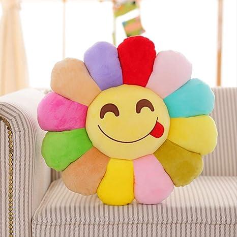 NIMEYM Colorido de dibujos animados Sun Flower Almohada ...