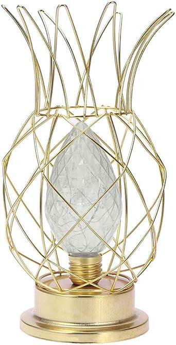 Lámparas de mesa Vintage, DINOWIN Lámparas LED de mesa Diseno Piña ...