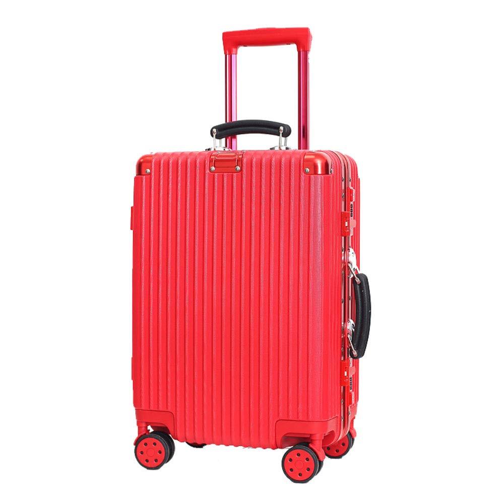 トロリーケースユニバーサルホイール荷物スーツケース20インチ搭乗パスワードスーツケース (Color : 赤, Size : 20 inches)   B07QVKSHG1