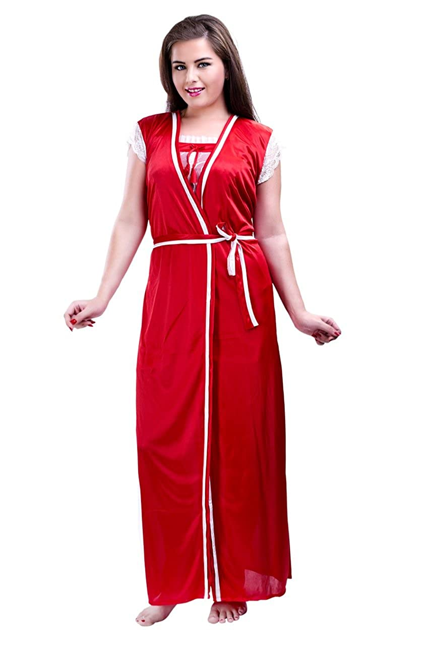 Valentine special Hot N Sweet Red Two pieces nighty  Amazon.in  Clothing    Accessories 0a5c836da