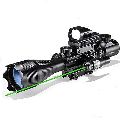 XOPin Hunting Rifle Scope Combo C4-16/12x50EG Dual Illuminated