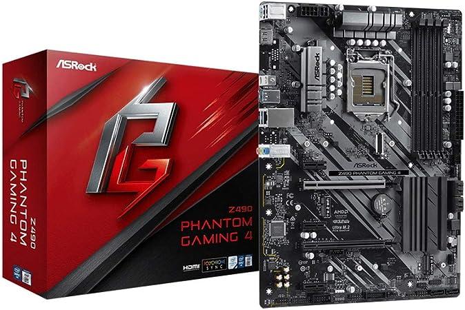 Carta da gioco ASRock Z490 Phantom Gaming 4 (Intel LGA 1200): Amazon.it:  Informatica