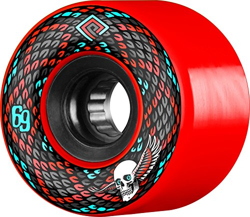 (Powell Peralta Snakes 69mm 75a Red Longboard)