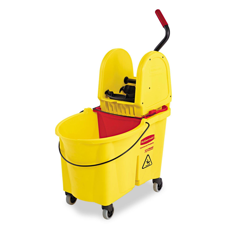 - WaveBrake 44 Quart Bucket/Downward Pressure Wringer Combination, Yellow -