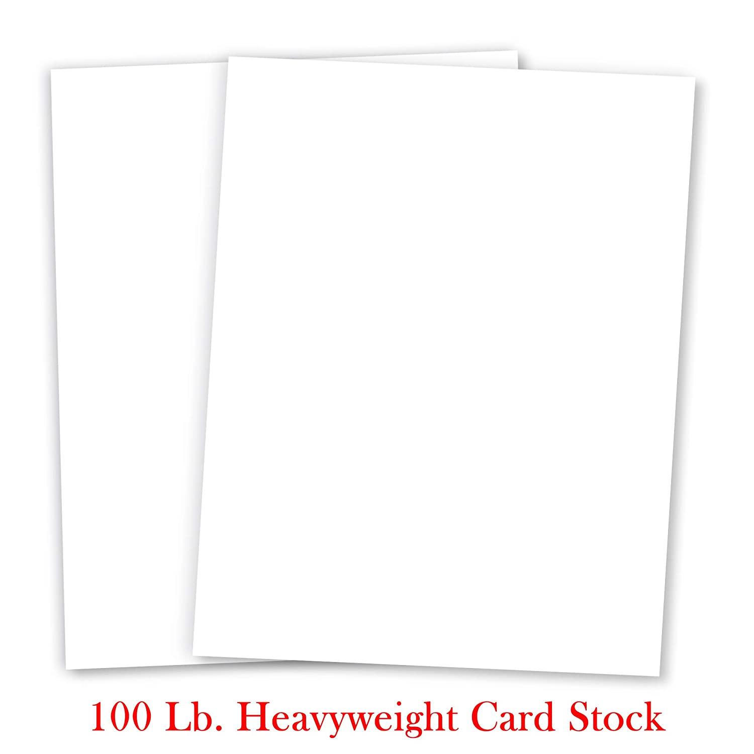 Basic WHITE Card Stock Paper - 8.5 x 11 - 100lb Cover (270gsm) - 50 PK by Superfine Printing Inc. 29784