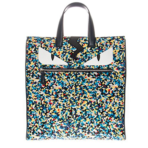 Fendi-Mens-Multi-Color-Print-Monster-Tote-Blue-Multicolor