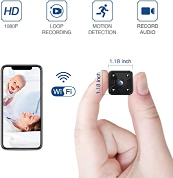 FREDI HD mini Wifi Spy Camera 1080P Security Wireless Hidden Camera Nanny Camera