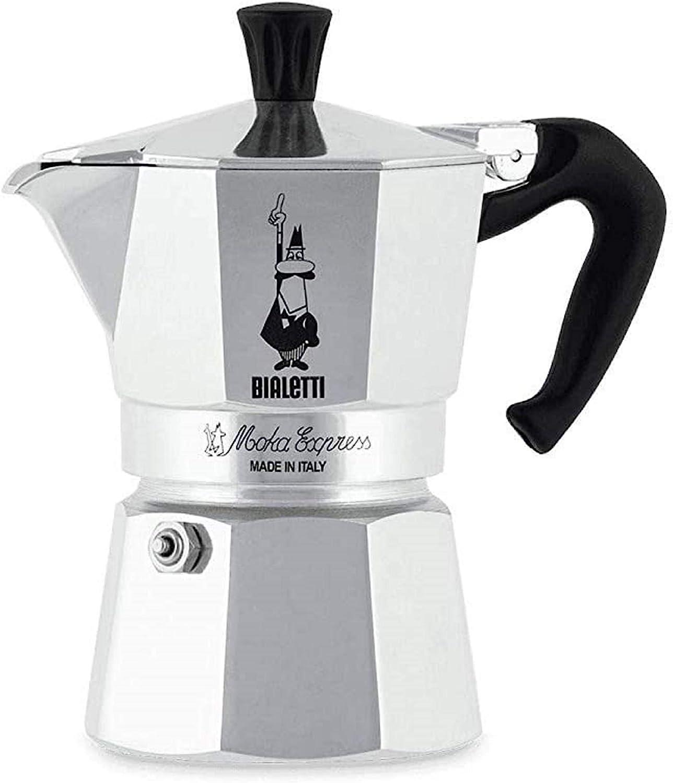 Bialetti Moka Express, Cafetera Italiana Espresso, Aluminio, 1 ...
