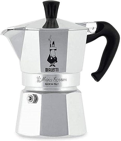 Bialetti Moka Express, Cafetera Italiana Espresso, Aluminio, 1 Taza: Amazon.es: Hogar