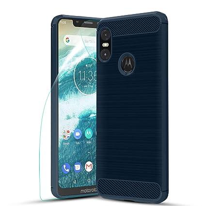 Amazon.com: Funda para Motorola Moto One 2018 con protector ...