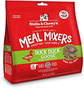 Stella & Chewy's Freeze-Dried Raw Duck Duck Goose Meal Mixers Dog Food Topper, 3.5 oz. Bag (FDDM-3.5)