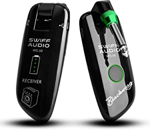 SWIFF High-Grade Electronic Guitar Wireless System Rechargeable Transmitter Receiver Support Multi Channels and 5.5 Hours Long Battery Life for all Electric Musical Instruments