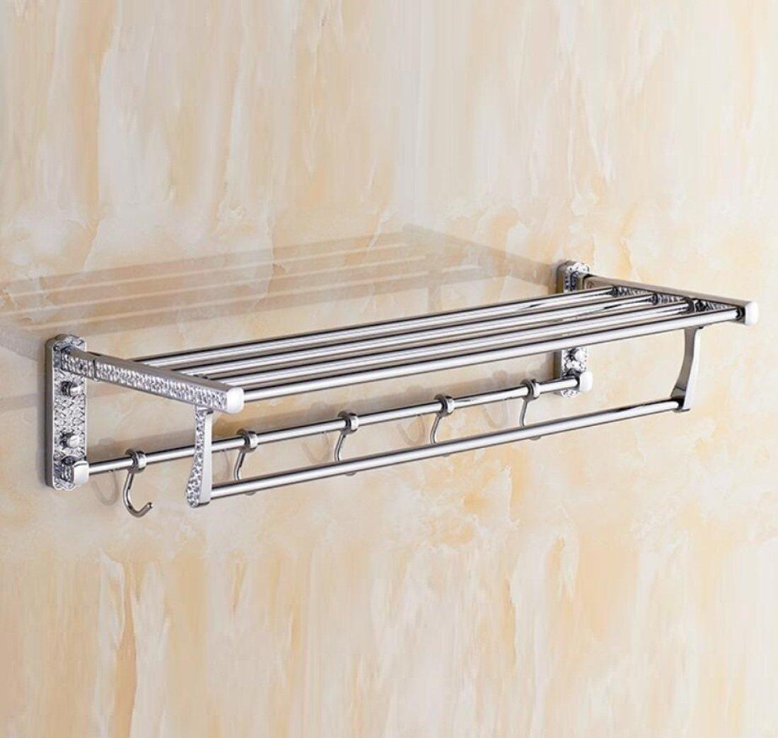 GL&G European luxury Silver Bathroom Bath Towel Rack Oxidation Bathroom Shelf Shower Bathroom Storage Organizer Shelf Wall Mount Bathroom Accessories Bathroom Shelves,6023.513.5cm by GAOLIGUO (Image #5)