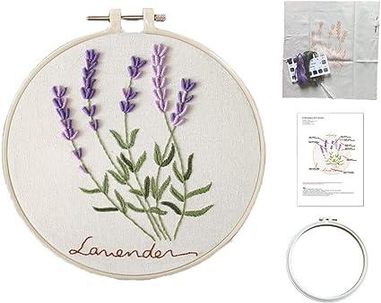 Lavender Lady  Female Embroidery Kit  Starter Embroidery  Craft Kit  Needlepoint Kit