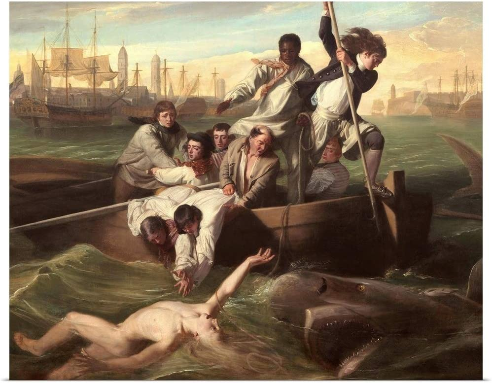 "GREATBIGCANVAS Watson and The Shark, by John Singleton Copley, 1778"" Poster Print, 45""x36"""