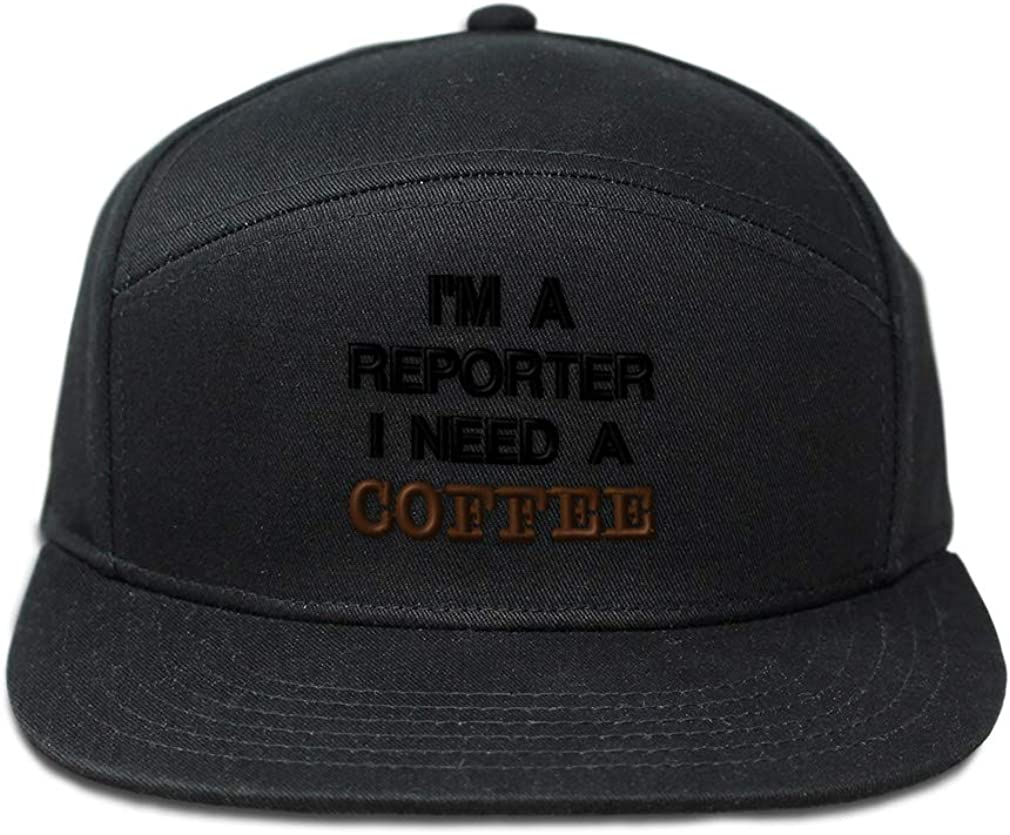 Speedy Pros Snapback Hats for Men /& Women Im A Reporter Embroidery Cotton Snapback Black