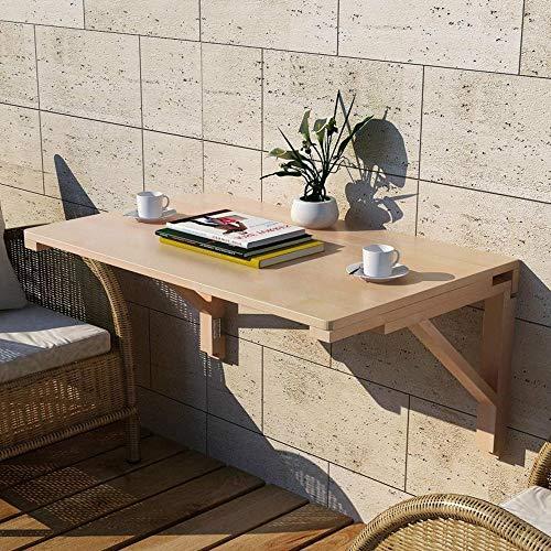 Bord ZR väggfällbart bord, fällbart matbord skrivbord, massivt trä, datorskrivbord, skrivbord för barn möbler (storlek: 75 x 50 cm)