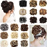Hair Bun Extension Updo Hairpiece Chignons Hair Piece Clip in Ponytail Extension