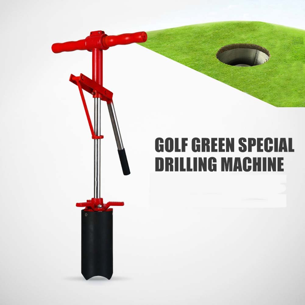 CRESTGOLF Lever Action Hole Cutters for Golf Greens, Steel Scalloped Blade