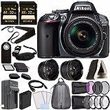 Nikon D5300 DSLR Camera with 18-55mm AF-P DX Lens (Grey) + Battery + Charger + Sony 32GB Card + HDMI + Backpack Case + Remote Bundle