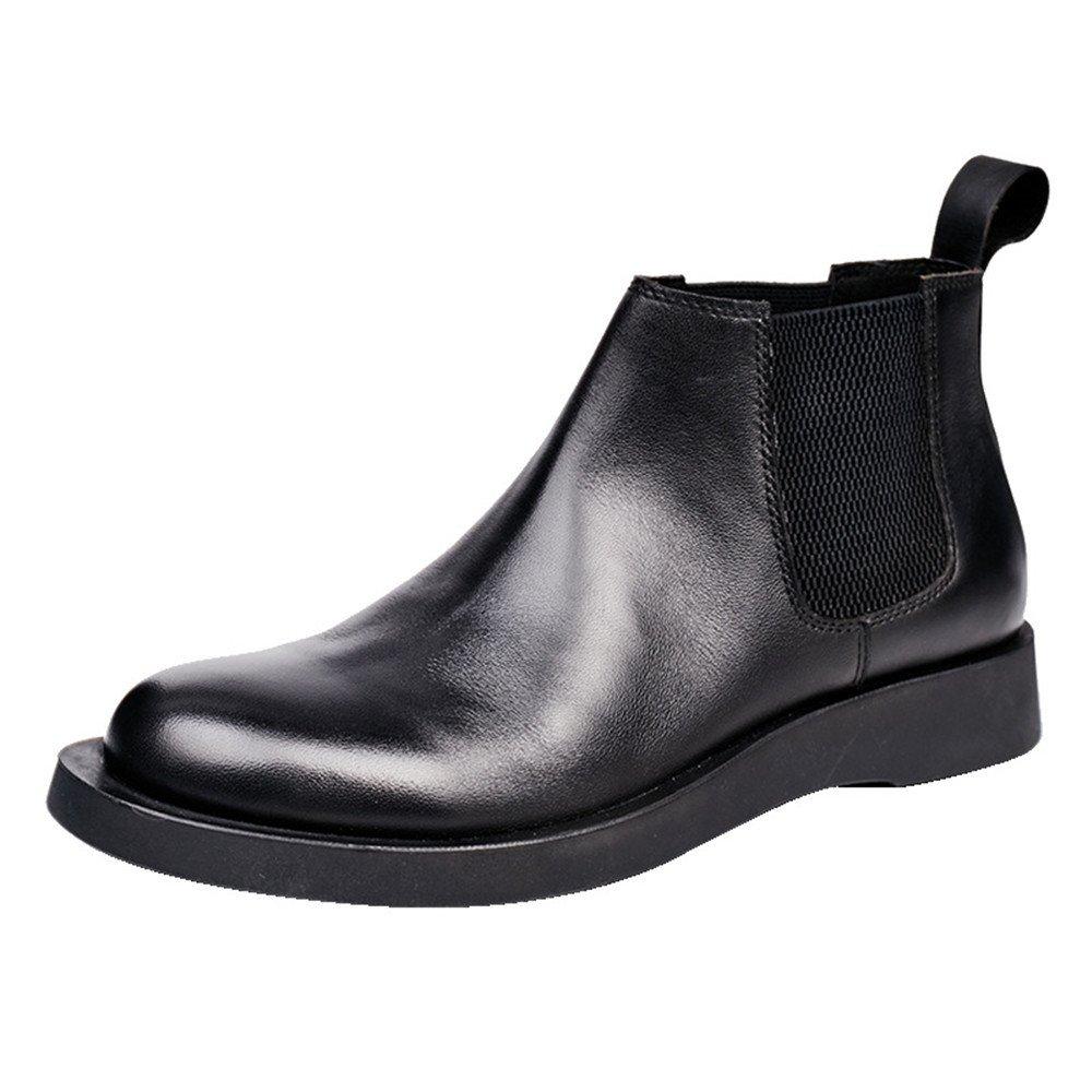 Männer - casual mode schuhe männer chelsea Stiefel männer hohe leder schuhe,schwarz,42
