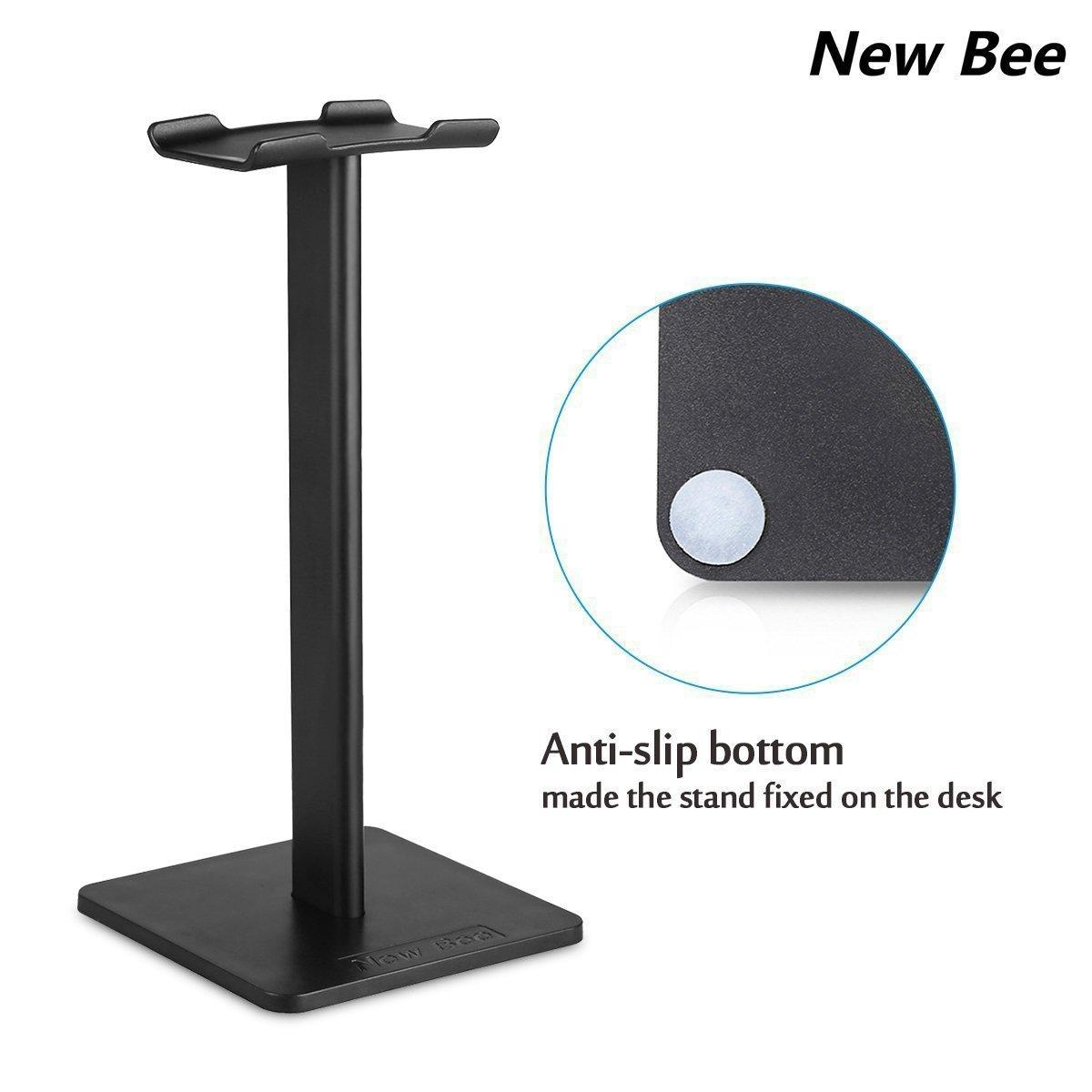 Noir New Bee Stand Bose ABS AKG Support Casque Universel pour écouteurs Over Sennheiser Shure Sony TPU Casque de Jeu et Affichage Casque Aluminium New Bee Support Casque Audio-Technica