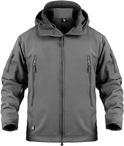 Image of Memoryee Chaquetas de Softshell para Exteriores Impermeables para Hombres Abrigos tácticos Militares cálidos Camuflaje Abrigo