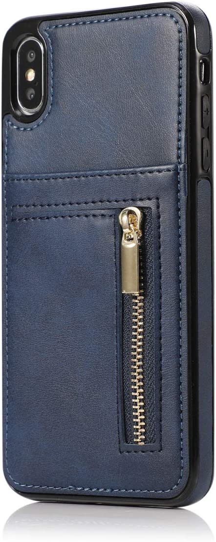 Suhctup Compatible con Huawei P30 Lite Funda de Cuero Premium Suave Cubierta de Cartera [Incluye Tarjetero] PU + TPU Protección, Carcasa Billetera de Cuero con Tarjetero Estuche(Azul)