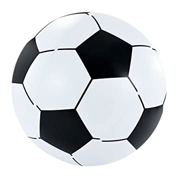 Igi - Fútbol hinchable gigante de 2,5 pies, bola de playa, juguete de agua, piscina, flotador, negro y blanco.: Amazon.es: Deportes y aire libre