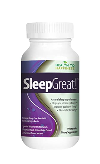 Sleep Great is a Non-Habit Forming Natural Sleeping Aid. Helps You Fall Asleep