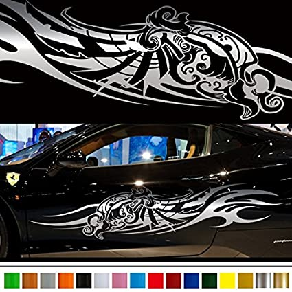 Tribal wing car sticker car vinyl side graphics 134 car vinylgraphic custom stickers