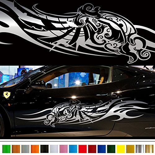 Tribal Wing car Sticker car vinyl side graphics 134/car vinylgraphic/Custom Stickers/decals【8 Colors To Choose From】 JAPAN ()