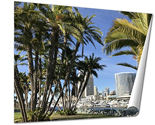 Ashley Giclee Fine Art Print, A Gorgeous Day In Sunny San Diego California, 16x20, - San Downtown Diego Stores