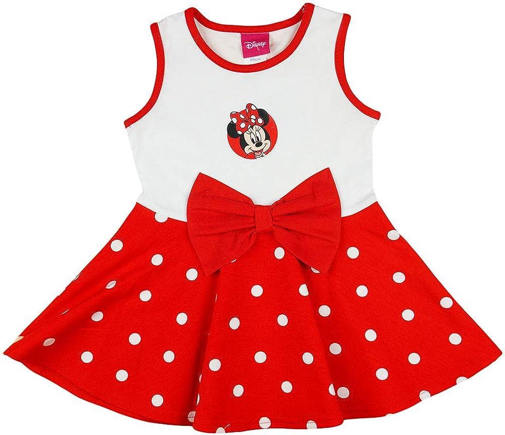 Baumwolle Bluemnm/ädchen Outfit Strand-Kleid Farbe Modell 12 Disney Baby M/ädchen Minnie Mouse FEST-Freizeit-Kleid Sommerkleid in Gr 80 86 92 98 104 110 116 122