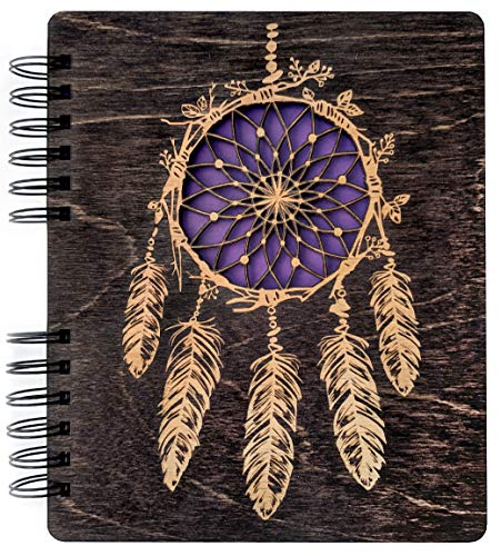 Dream Catcher Laser Cut Journal Engraved Teen Notebook Back to School Womens Mens Sketchbook Wedding Brial Shower Birthday Gift